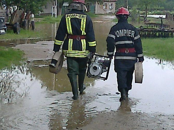 Inundații. FOTO: ISU Bihor