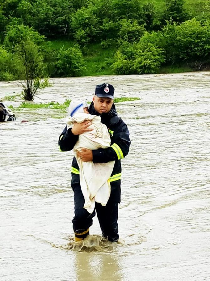 Inundații în România. FOTO: ISU Bistrița-Năsăud
