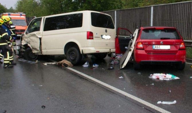 FOTO: Accident grav în Germania. Sursa: România TV