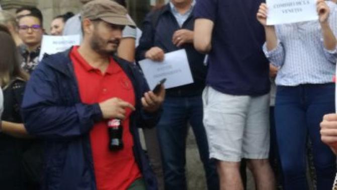 Procurorul Bogdan Pârlog, la proteste. Foto: Luju.ro