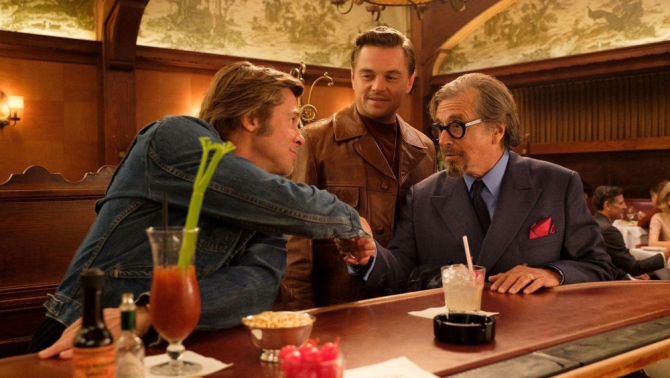 Brad Pitt, DiCaprio și Al Pacino într-un cadru de început