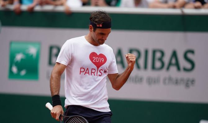 Roland Garros 2019 - Roger Federer, primul meci al turneului. foto: @RolandGarros - FB