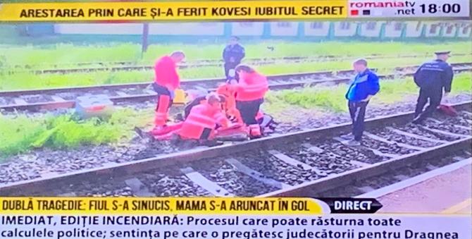 O femeia s-a aruncat de pe o pasarelă CFR