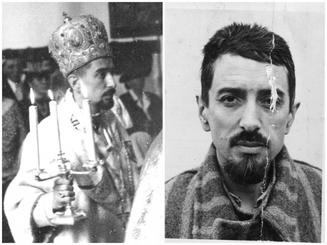 foto 1: PS Ioan Suciu în catedrala din Oradea foto 2: PS Ioan Suciu la Sighet (1951). SURSA FOTO: eparhiaclujgherla.ro