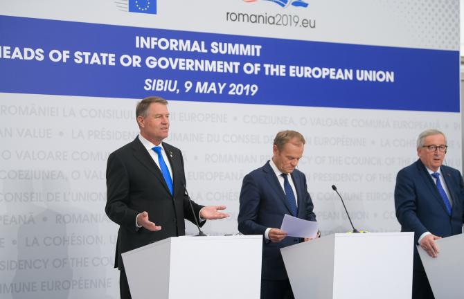 Klaus Iohannis, declarații la finalul Summitului de la Sibiu