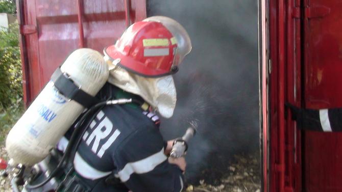 Incendiu. FOTO: ISU Bihor