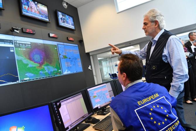 Centrul de coordonare a răspunsului la situaţii de urgenţă (ERCC) al UE, care funcţionează 24 de ore din 24, şapte zile din şapte