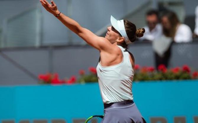 Madrid 2019. Simona Halep în semifinale. foto: @WTA - FB