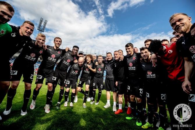 Slavia Praga, campioana în Cehia. foto: @SKSlaviaPrahaFotbal