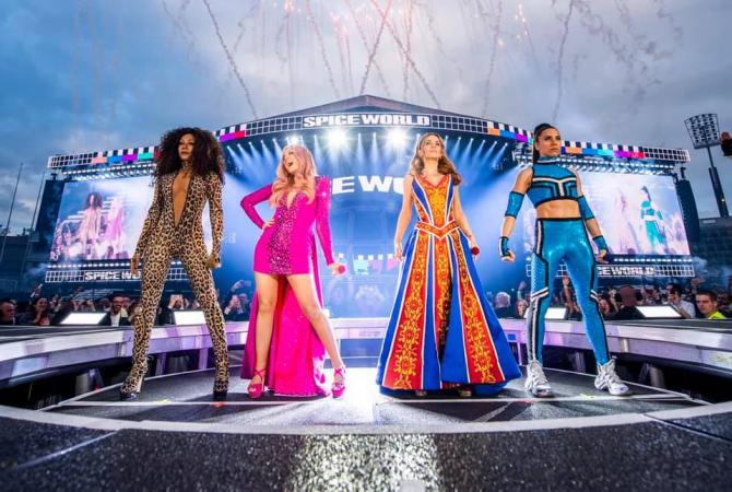 Spice Girls, din nou pe scenă. Concert la Dublin. foto: @spicegirls - FB