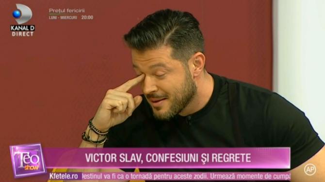 Victor Slav, în lacrimi, în fața lui Teo Trandafir