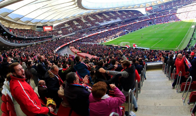 Liga Campionilor se joacă la Madrid. Trei capitale, un record istoric. foto: @wandametropolitano - FB