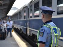 Poliție, control trenuri. FOTO: Poliția Română