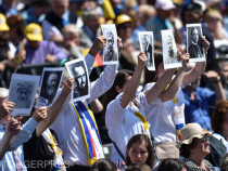 FOTO: Agerpres. Episcopi beatificați de Papa Francisc la Blaj