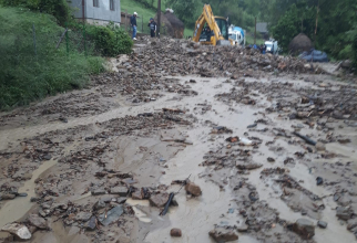 Inundatii. FOTO: ISU Bistrița-Năsăud