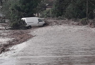 Inundatii. FOTO: ISU Bistrita Nasaud
