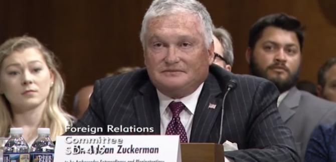 Adrian Zuckerman, audiat în Senatul SUA