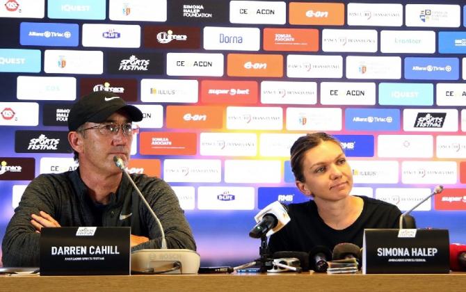 Darren Cahill și Simona Halep la Cluj Napoca