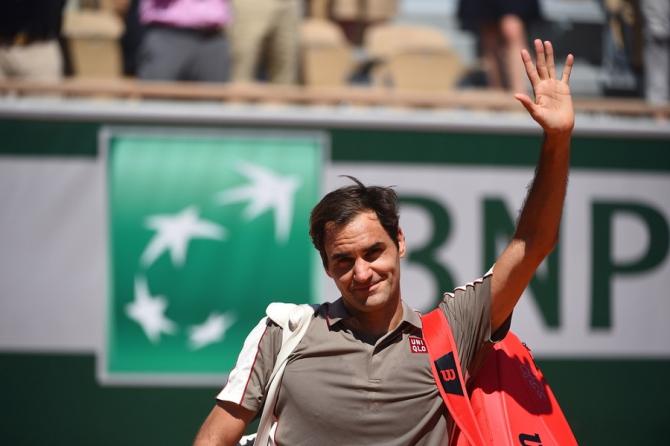 Federer - Wawrinka, meci întrerupt de ploaie, dar cu final către un meci de vis. Foto: @RolandGarros - FB