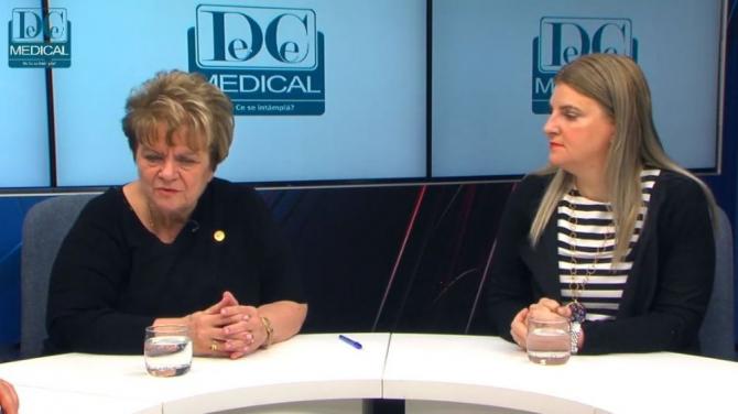 Prof.dr. Ioana Grințescu și conf.dr. Liliana Mirea, la Academia de Sănătate. Foto: DC NEWS