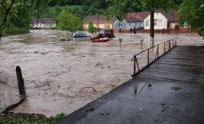 Foto Arhivă. Inundații județul Arad. foto: ISU Arad