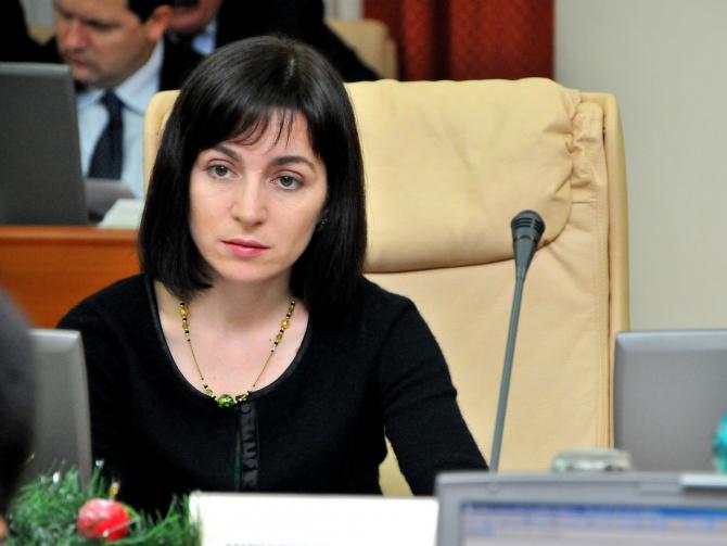 Maia Sandu, premierul Moldovei