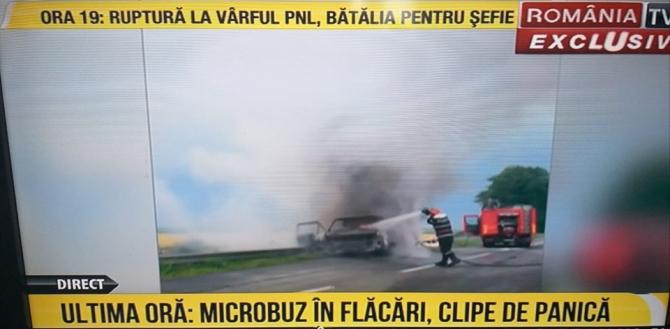 microbuz-în-flăcări-Tulcea-România-TV