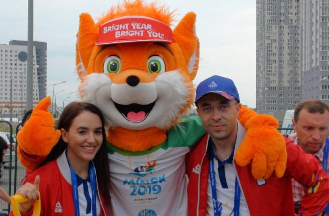 Jocurile Europene 2019. Ceremonia de primire în Satul Sportivilor Minsk-  VIDEO. foto: @olympicromania - FB