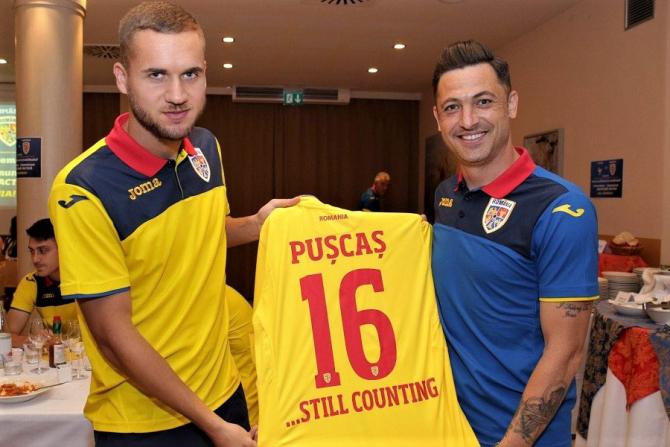George Pușcaș și Mirel Rîdoi, naționala de tineret România U21. foto: FRF
