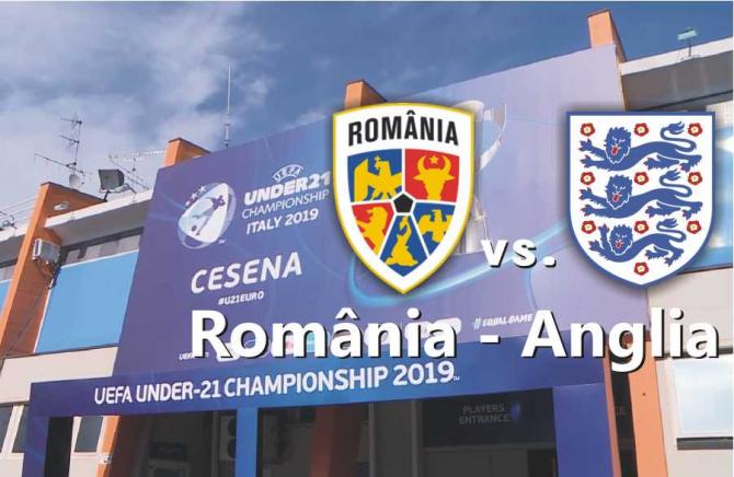EURO U21   România - Anglia U21 rezultat. Lupta pentru un loc în semifinale