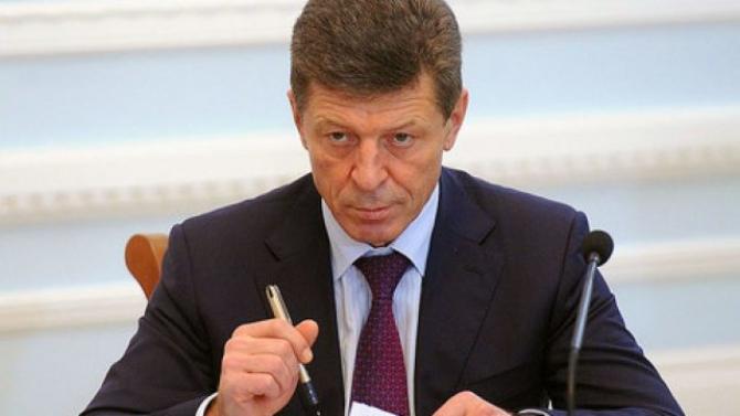 Vicepremierul rus Dmitri Kozak