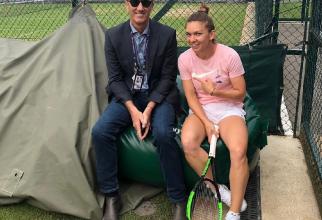 Simona Halep și Darren Cahill - foto: simonahalep - Instagram
