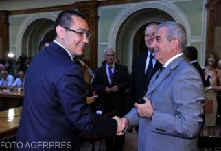 Victor Ponta și Călin Popescu-Tăriceanu în 2012