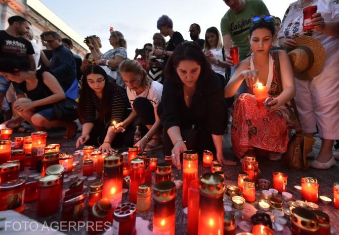 FOTO: Protest după cazul de la Caracal.