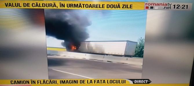 camion-în-flăcări-Ploiești-Captură România TV