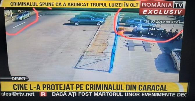 Momentul când Alexandra se urcă în mașina criminalului din Caracal - Captură România TV