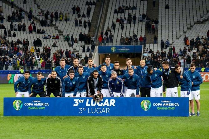 Copa America - Argentina - Chile rezultat în finala mică. Messi, roșu direct