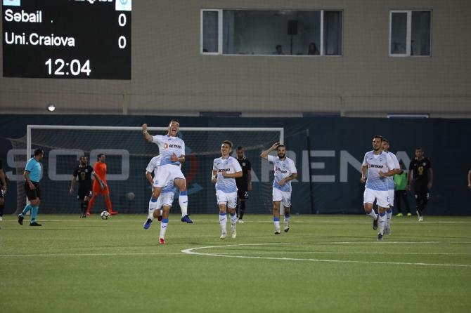 Sabail - Universitatea Craiova rezultat în Europa League. foto: @UCVOficial - FB