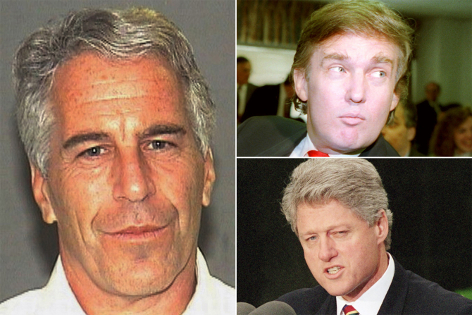 Jeffrey Epstein, Donald Trump, Bill Clinton