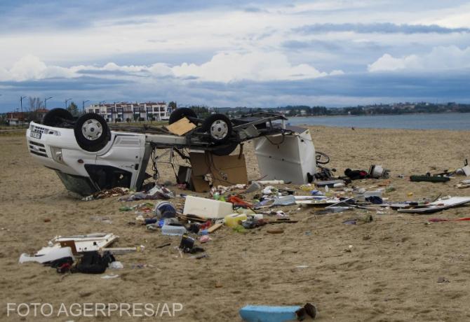 Furtună puternică în Halkidiki, Grecia. FOTO: Agerpres.