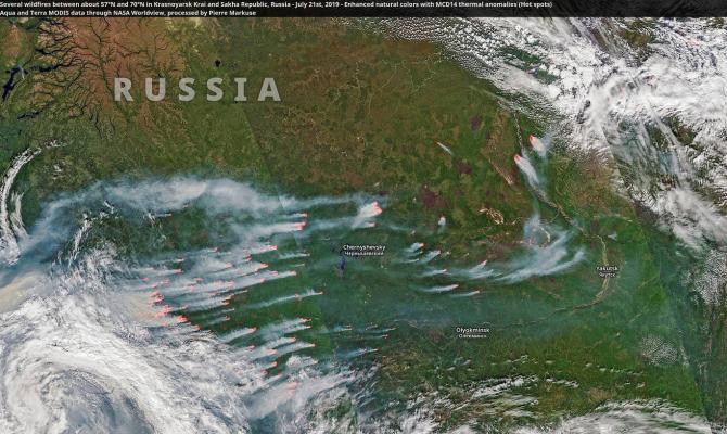 Incendii de vegetație în Siberia