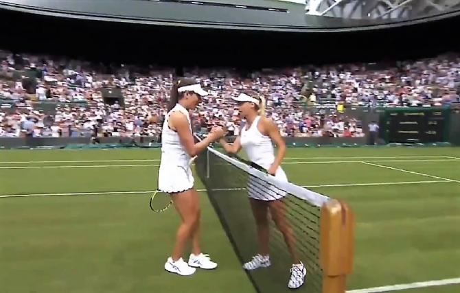Konta - Ana Bogdan. Wimbledon 2019