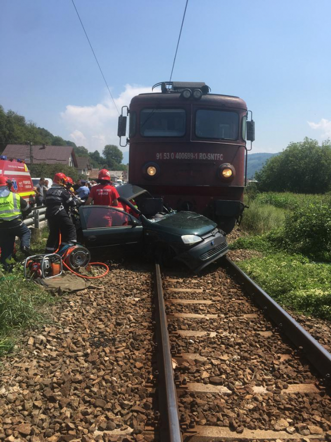 Accident feroviar. FOTO: IPJ BN