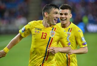 Nationala Româniai - Keșeru și Ianis Hagi. foto: frf.ro