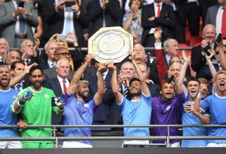 Mancester City a câștigat Supercupa Angliei. foto: @mancity - FB