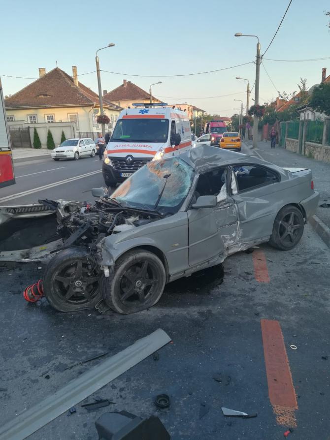 Accident grav la Sibiu. FOTO: ISU Sibiu
