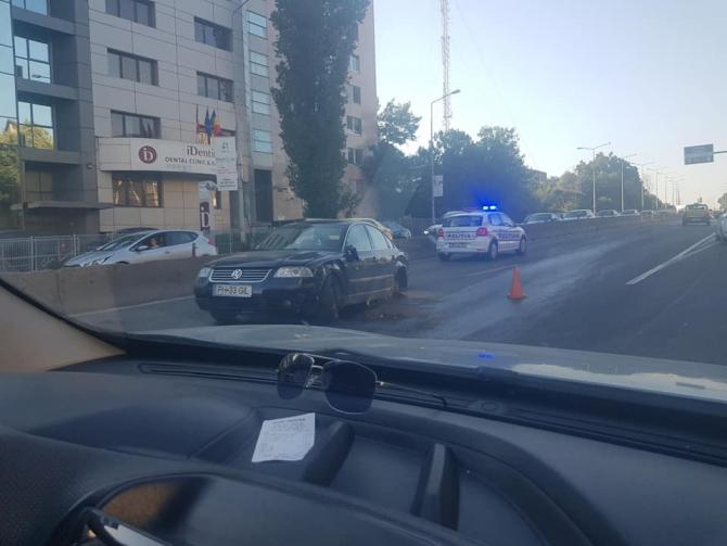 Accident Pasaj Băneasa. foto: Adrian Feticu Facebook