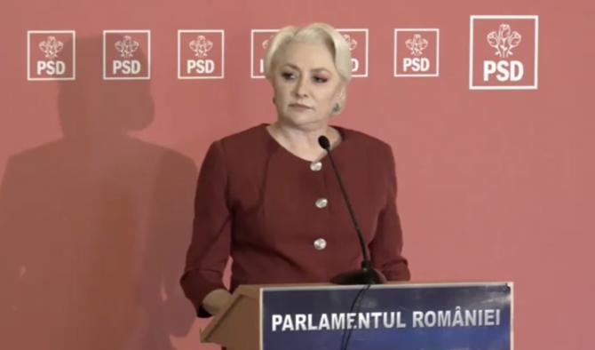 Viorica Dăncilă, la declarația de presă de astăzi