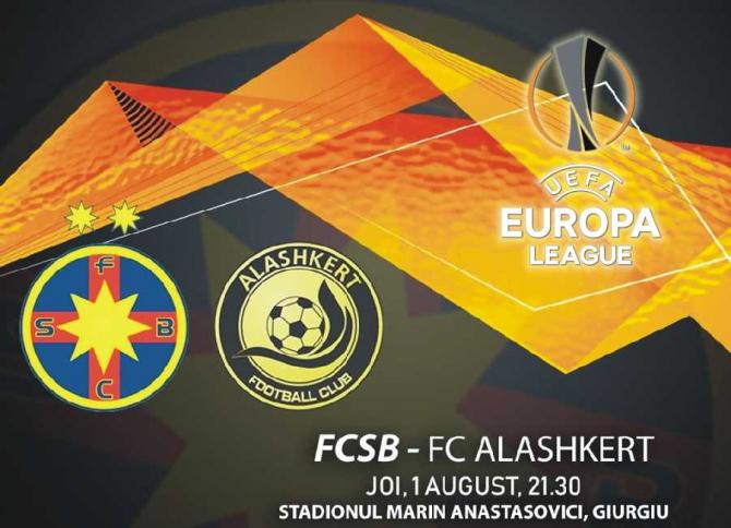 FCSB - Alaşkert rezultat în Europa League, meci retur