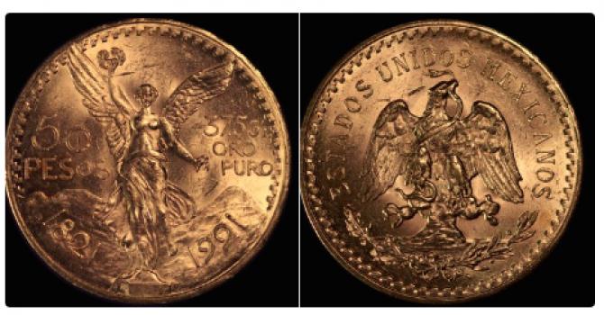 Monedele de aur, denumite centenarios